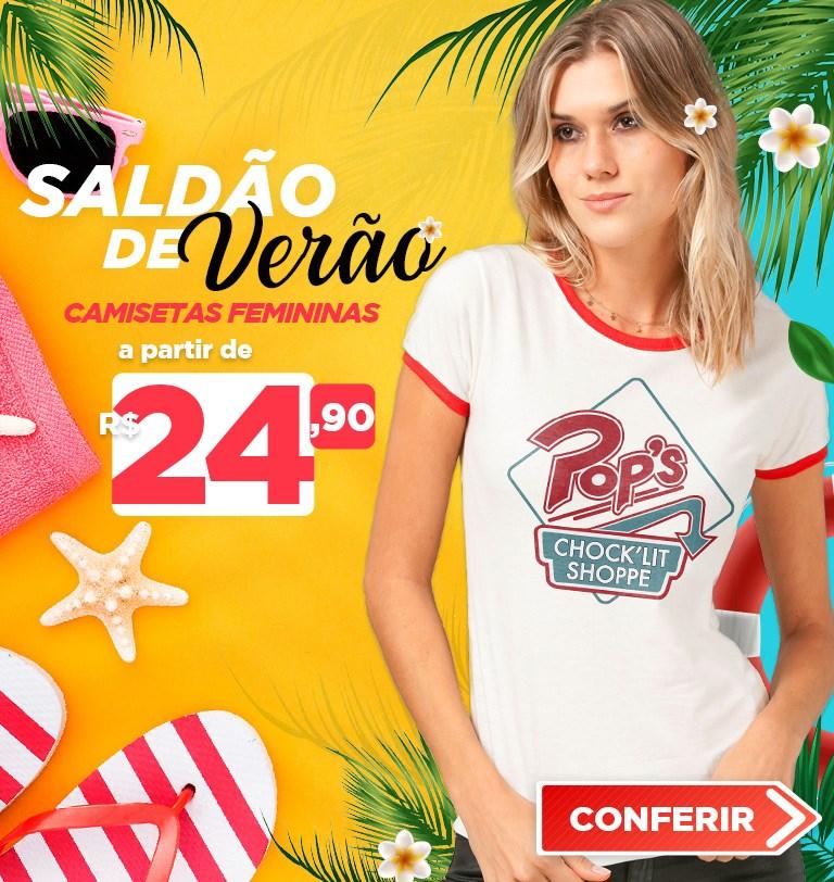 Camiseta Feminina Saldão de Verão 2021 Mobile