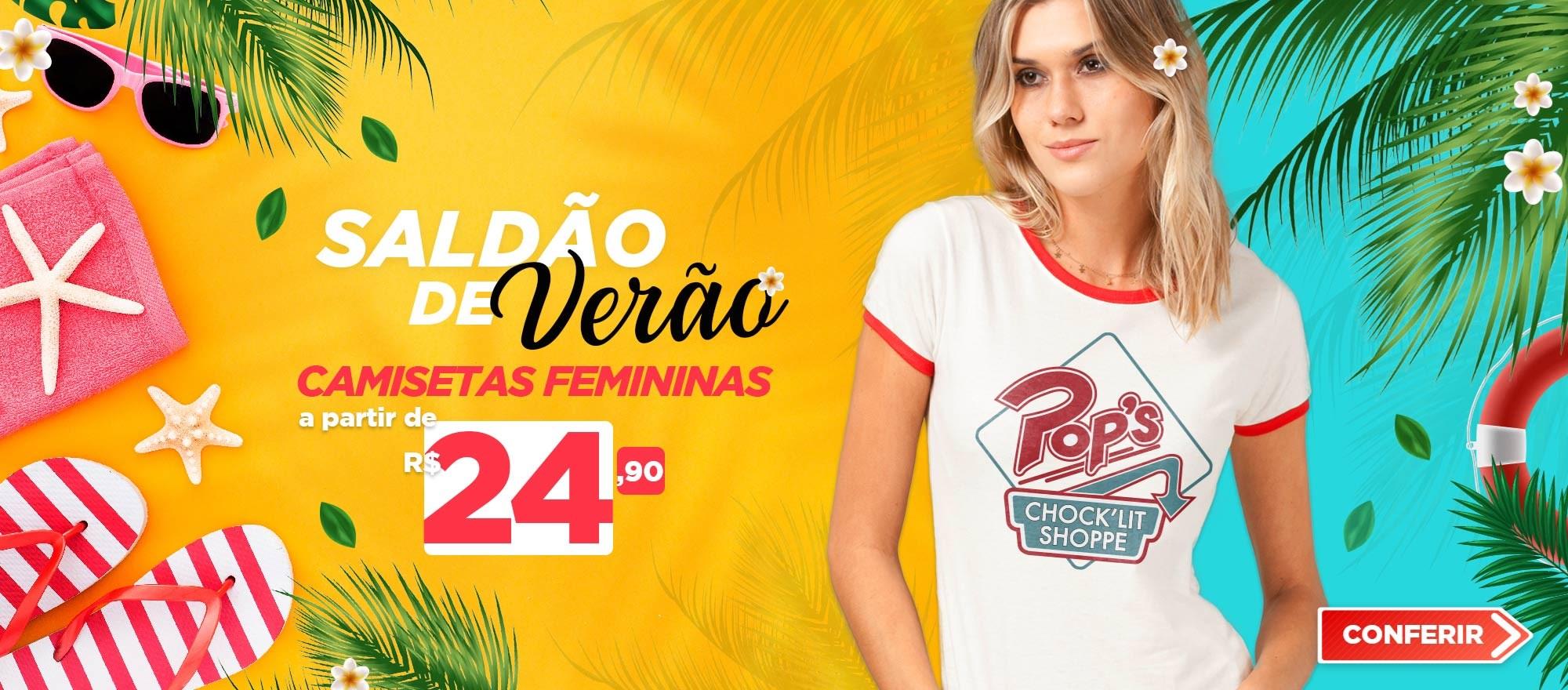 Camisetas Femininas Saldão de Verão 2021