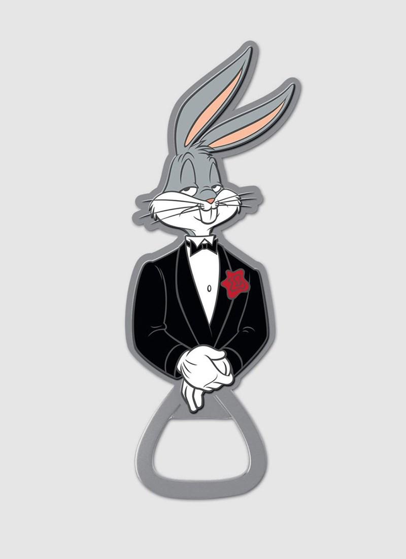 Abridor de Garrafas Looney Tunes Pernalonga Smoking Preto
