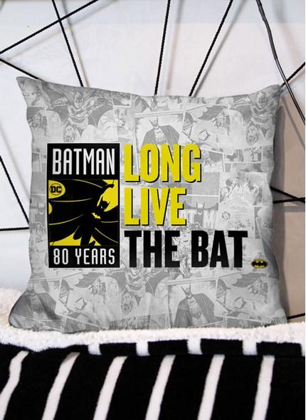 Almofada Batman 80 Anos Long Live The Bat