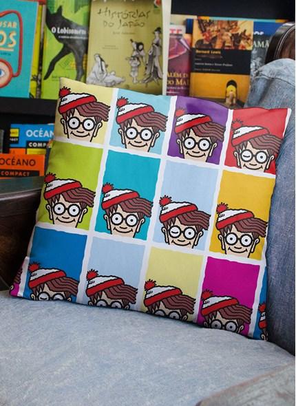 Almofada Onde está o Wally? Pop Colors