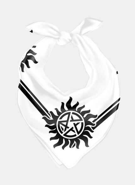 Bandana Unissex Supernatural Logo P&B