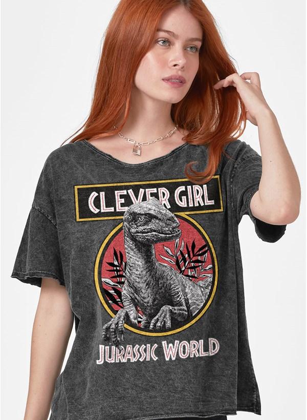Blusa Jurassic World Clever Girl Logo