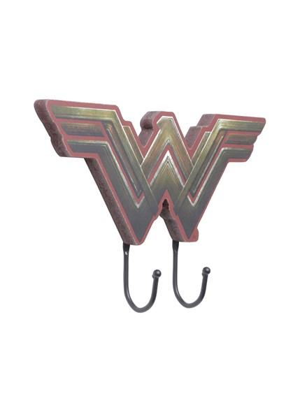Cabideiro de Madeira Mulher Maravilha Movie Logo