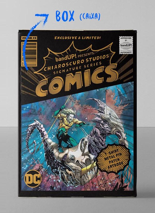 Caixa Box Aquaman Chiaroscuro 2018