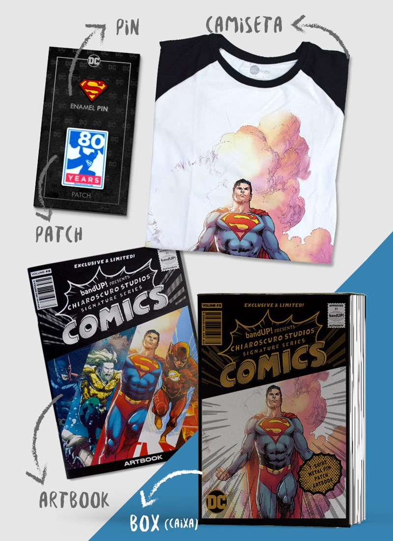 Caixa Box Superman Chiaroscuro 2018