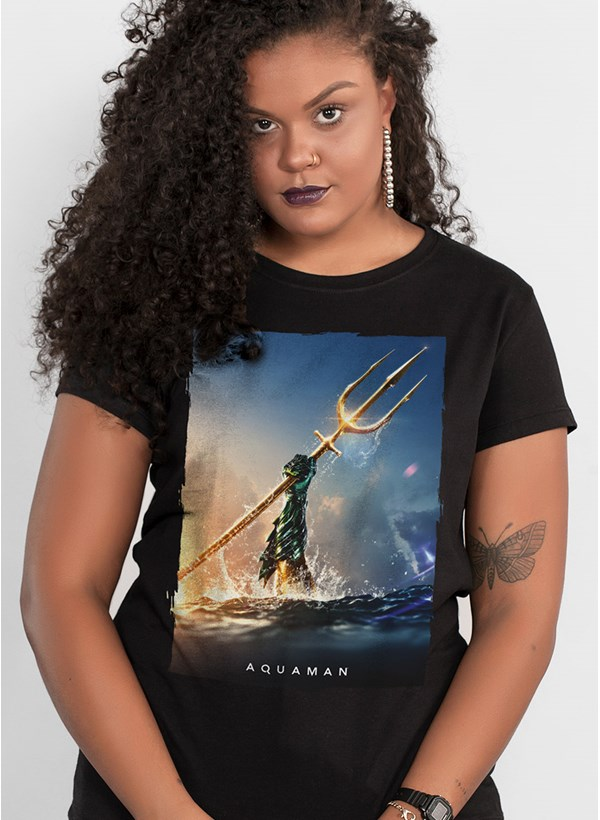 Camiseta Aquaman Golden Trident