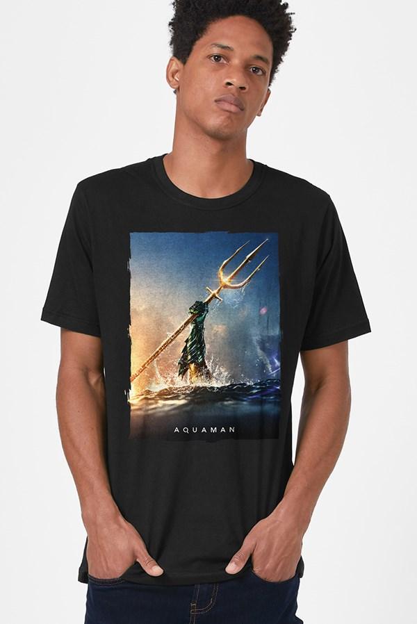 Camiseta Aquaman Golden Trident