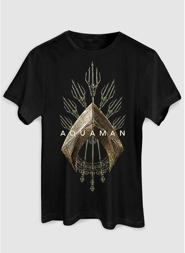 Camiseta Aquaman Logo Trident
