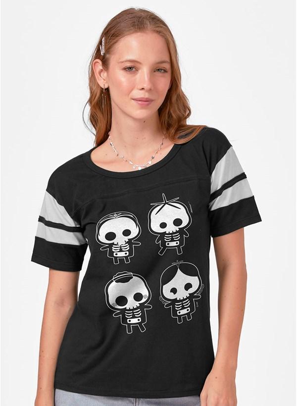 Camiseta Athletic Turma da Mônica Skull