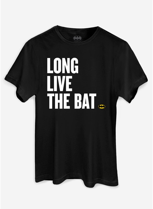 Camiseta Batman 80 Anos Long Live The Bat