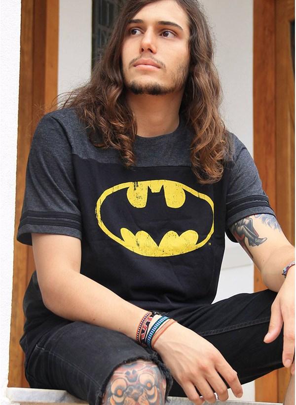 Camiseta Batman Logo Athletic Bicolor