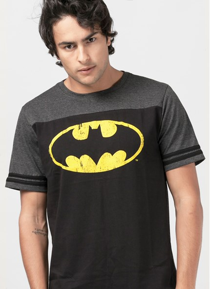 Camiseta Batman Logo Athletic Bicolor