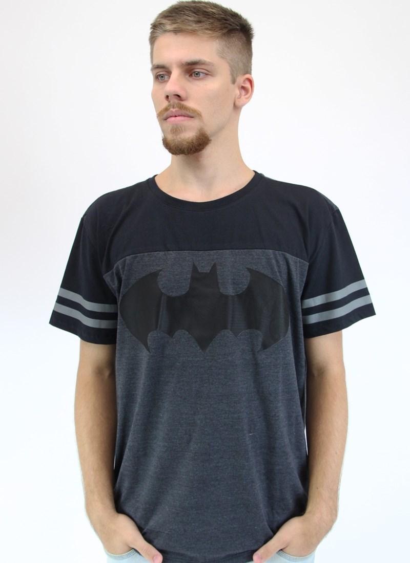 Camiseta Bicolor Athletic Batman Logo Classic