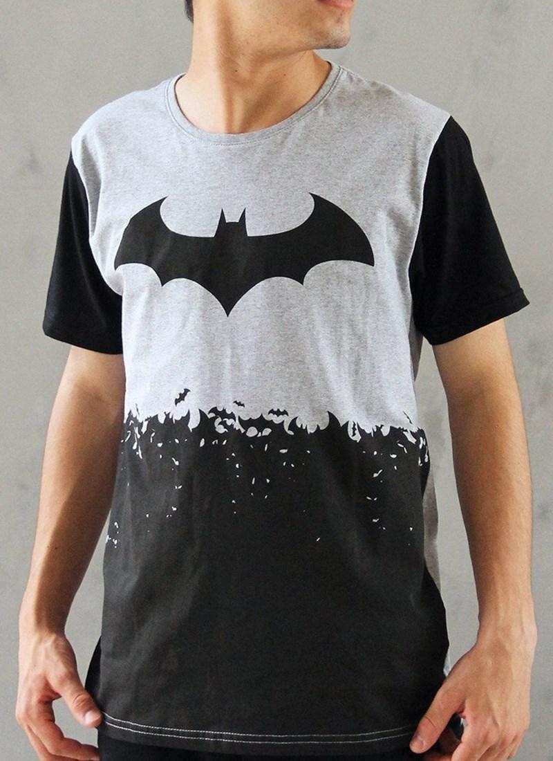 Camiseta Bicolor Batman Logo Bats