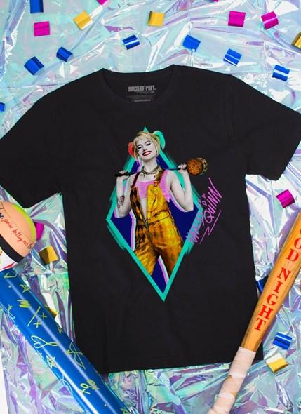 Camiseta Birds of Prey Harley Quinn Sorriso - Aves de Rapina