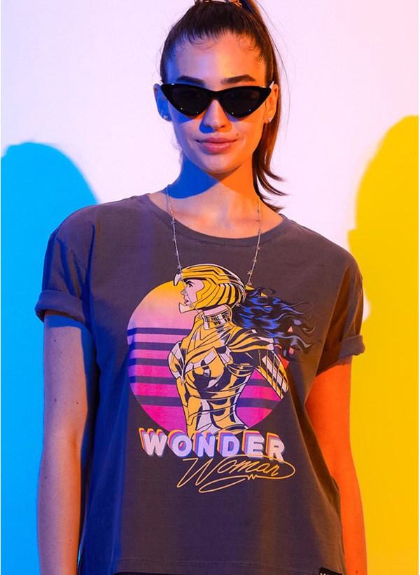 Camiseta Box Mulher Maravilha 1984 Colorful