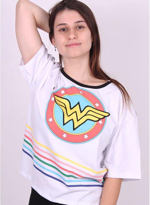 Camiseta Box Mulher Maravilha Logo Retrô
