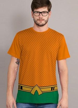 Camiseta Cosplay Aquaman Classic Uniform