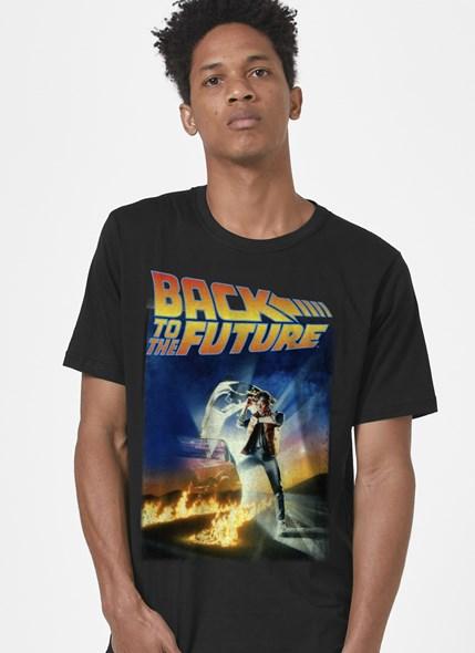 Camiseta De Volta Para o Futuro Postêr