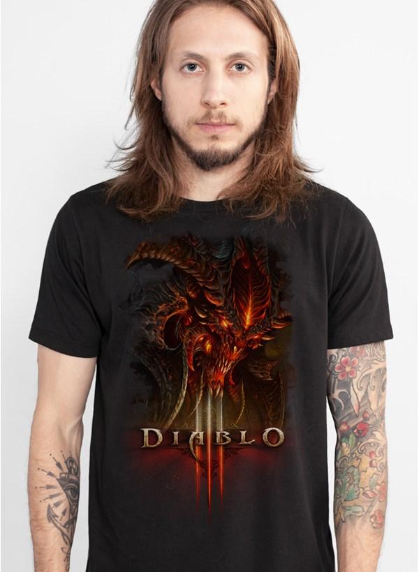 Camiseta Diablo III Head