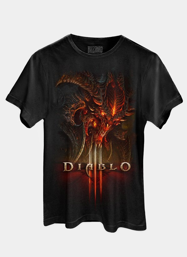 Camiseta Diablo III Head
