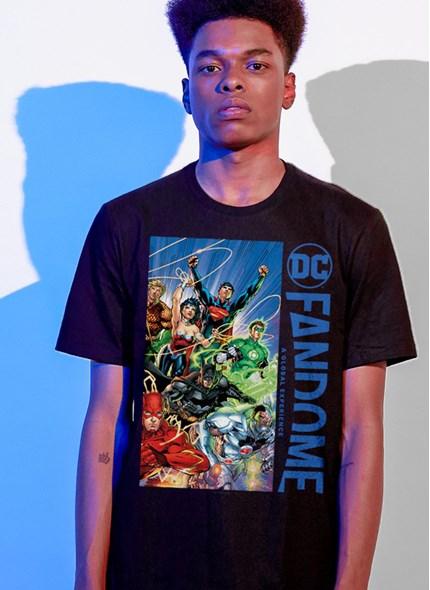 Camiseta Fandome Liga da Justiça