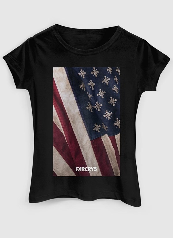 Camiseta Far Cry 5 Cult Flag Black