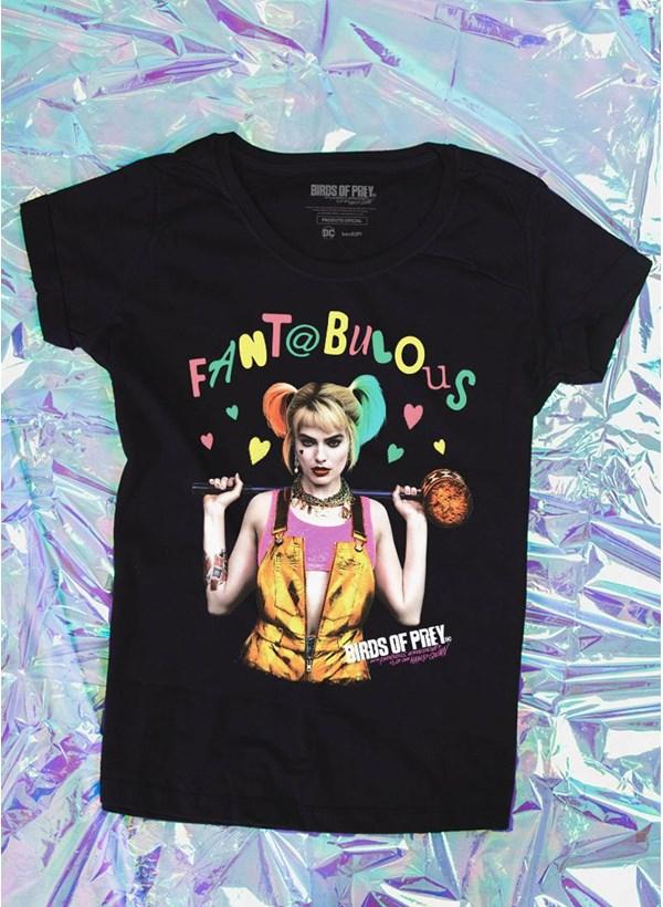 Camiseta Feminina Birds of Prey Harley Quinn Fantabulosa - Aves de Rapina