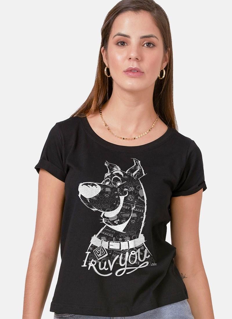Camiseta Feminina Scooby! I Ruv You