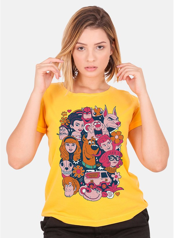 Camiseta Feminina Scooby! Personagens Tropicais