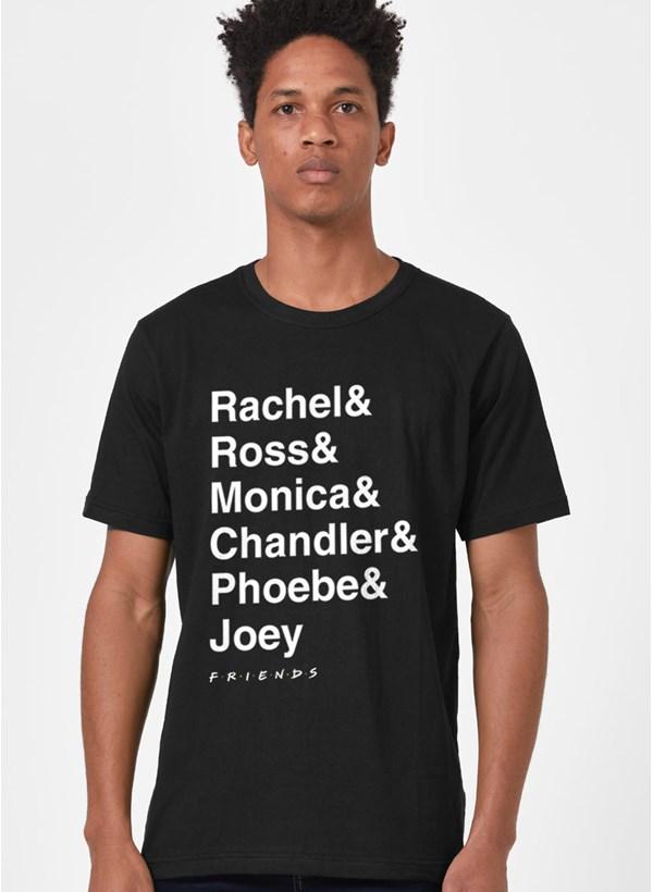Camiseta Friends Nomes