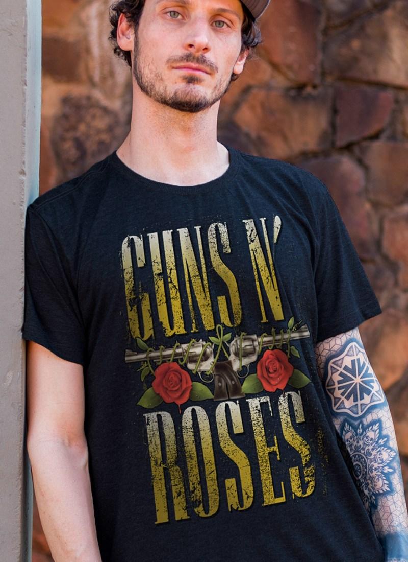 Camiseta Guns N' Roses Logo