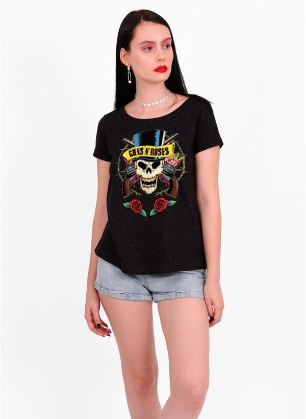 Camiseta Guns N' Roses Skull and Roses