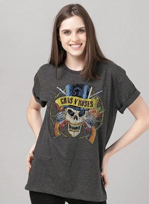 Camiseta Guns n' Roses Skull Mescla