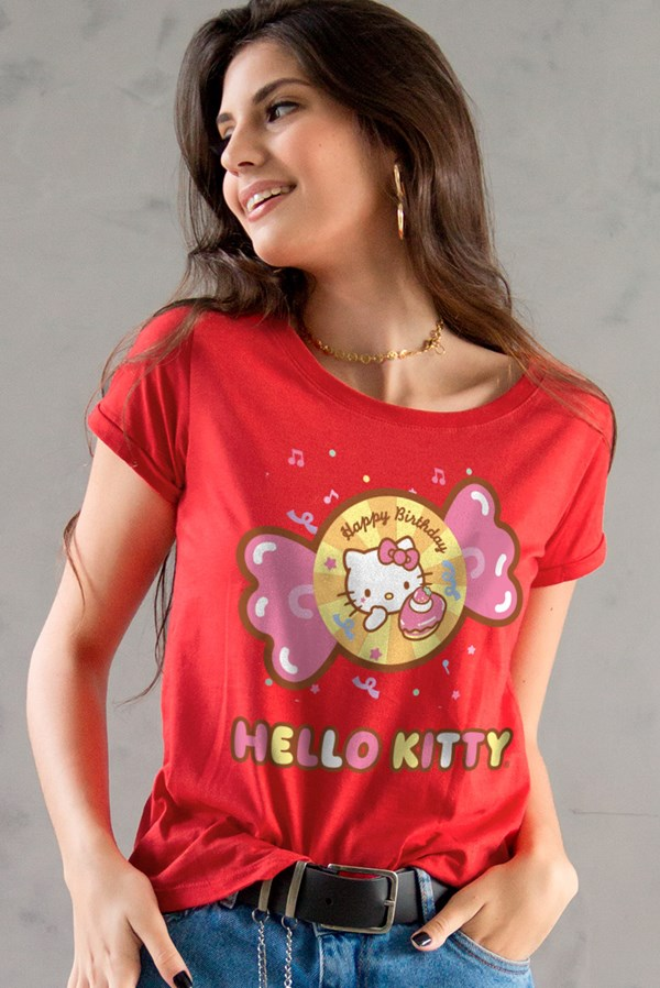 Camiseta Hello Kitty Birthday Candies
