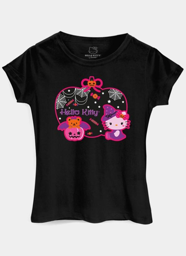 Camiseta Hello Kitty Halloween Pumpkin