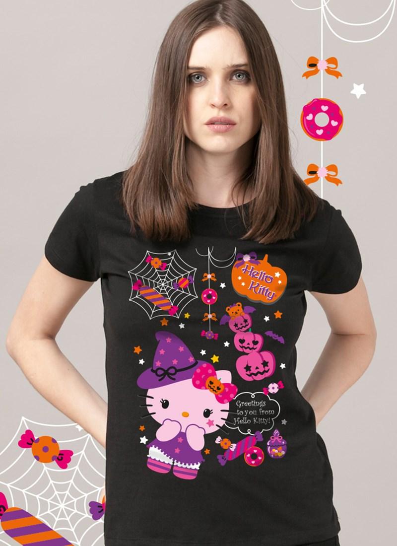 Camiseta Hello Kitty Halloween Treats
