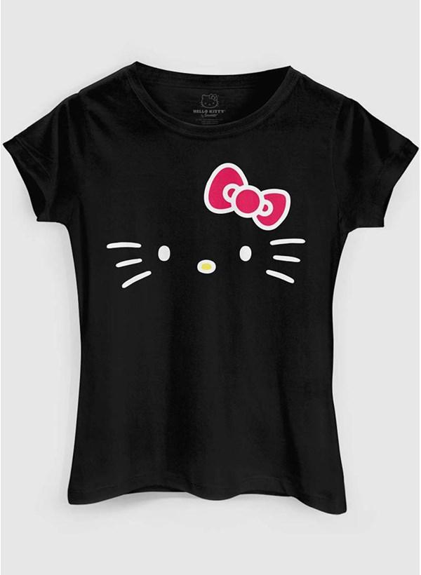 Camiseta Hello Kitty White Black