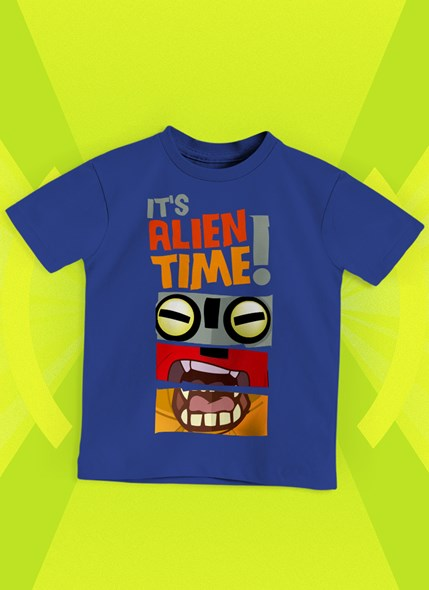 Camiseta Infantil Ben 10 Alien Time