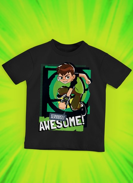 Camiseta Infantil Ben 10 Awesome