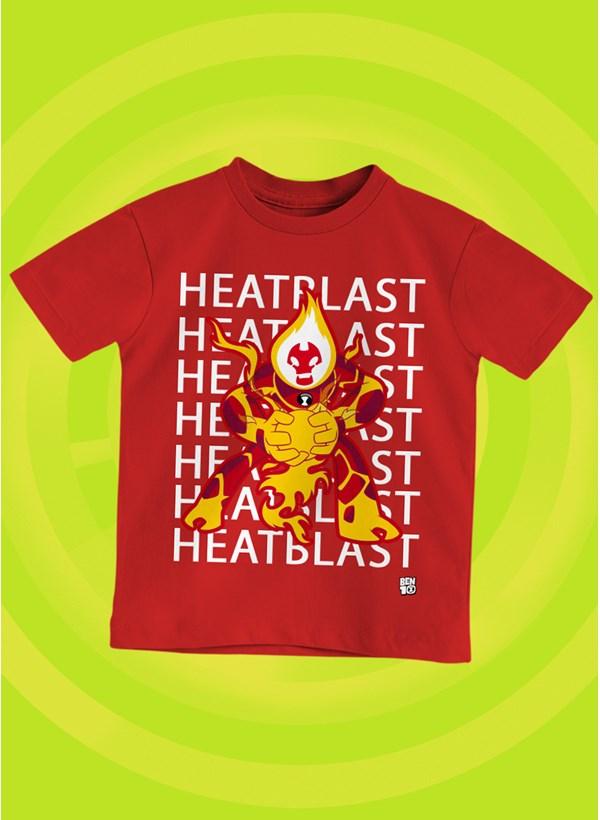 Camiseta Infantil Ben 10 Chama