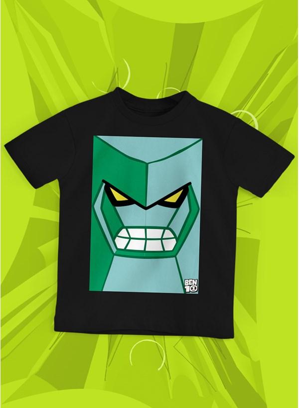 Camiseta Infantil Ben 10 Diamante Face