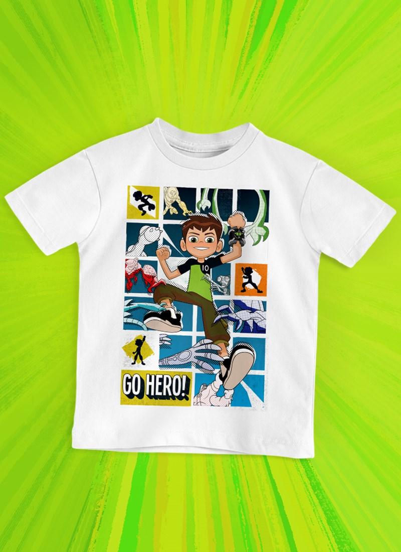 Camiseta Infantil Ben 10 Go Hero