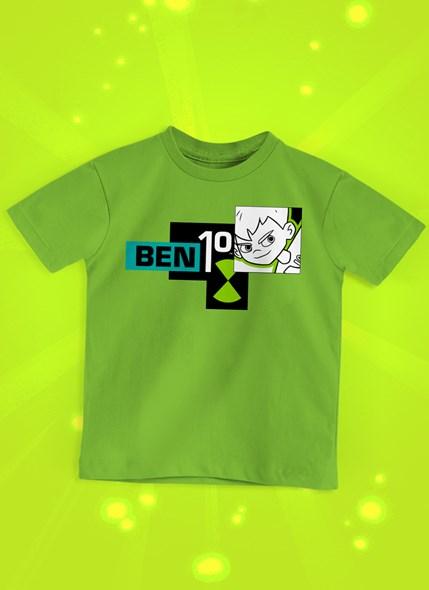 Camiseta Infantil Ben 10 P&B