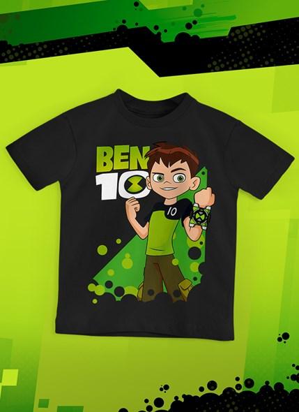 Camiseta Infantil Ben 10 Pôster