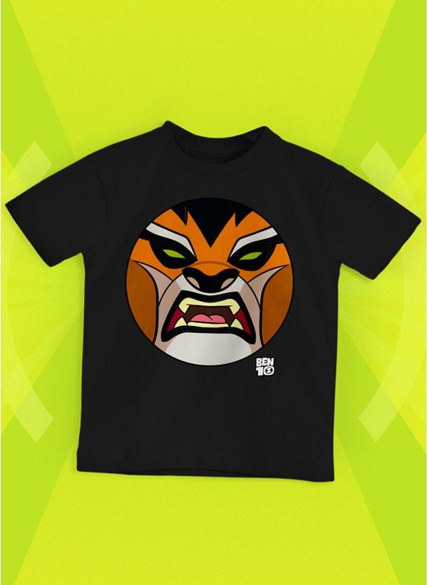 Camiseta Infantil Ben 10 Rath Face