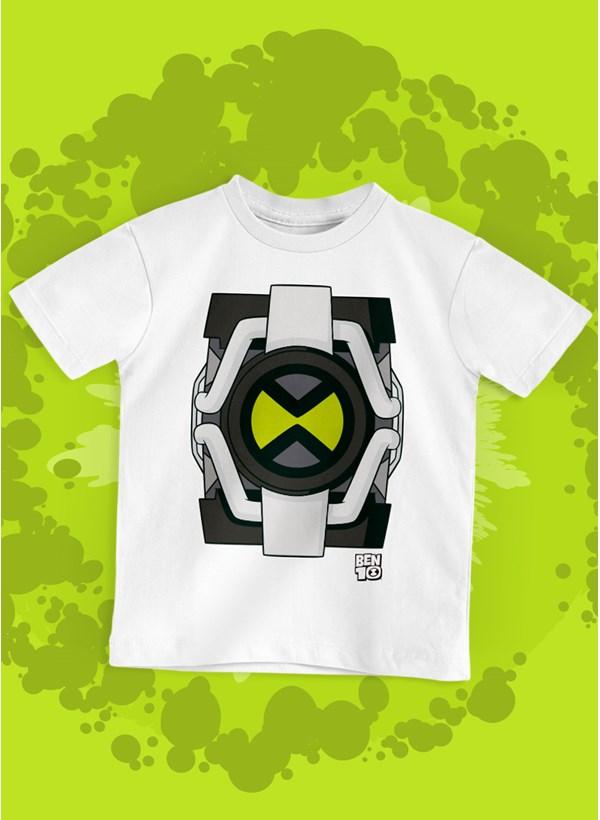 Camiseta Infantil Ben 10 Relógio