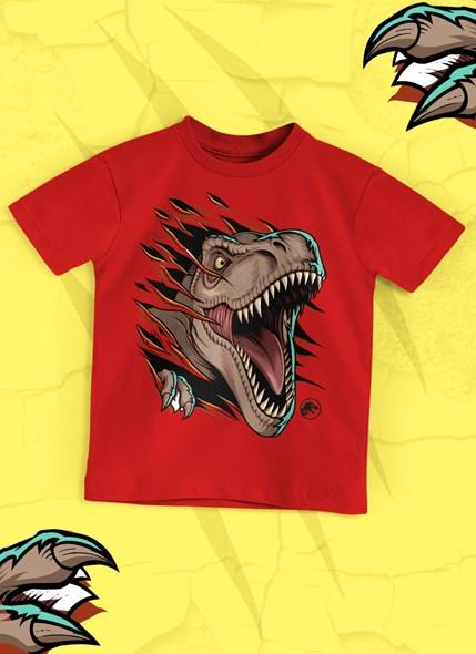 Camiseta Infantil Jurassic Park T. Rex
