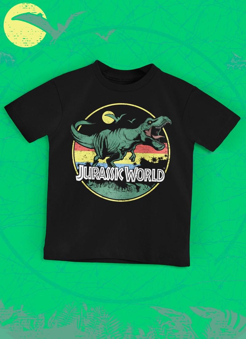 Camiseta Infantil Jurassic World T.Rex Vintage